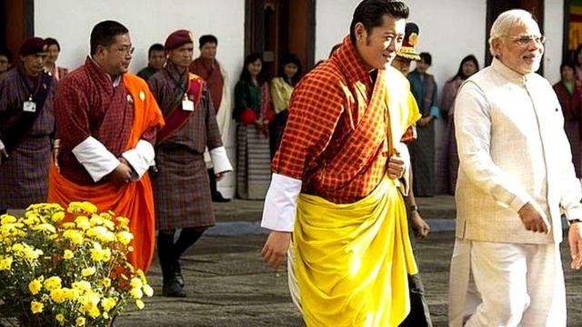 مودی، بھوٹانی راجہ