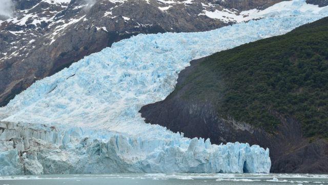 Lengua del glaciar Spegazzini, en Argentina.