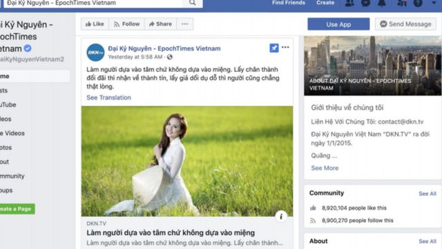 Đại Kỷ Nguyên lọt vào 'tầm ngắm' của Facebook