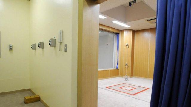 Japonya'da idam cezasını infaz edildiği bir oda