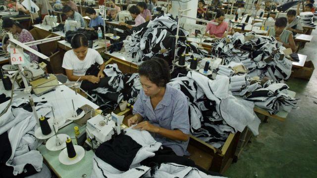 အထည်ချုပ်လုပ်ငန်းခွင်တစ်ခု