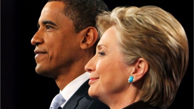 Hillary Clinton e Barack Obama