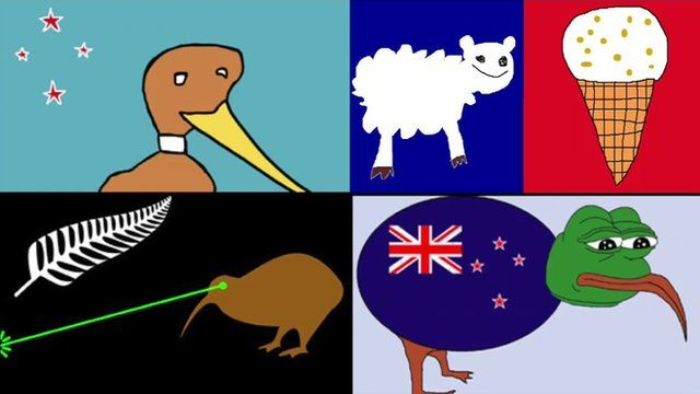 Rejected designs for New Zealand's new flag