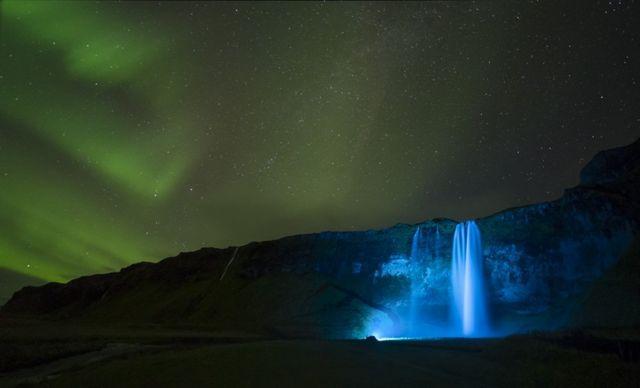 Seljalandsfoss Aurora by Paul Andrew