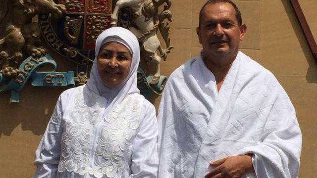 Simon Collis with Wife Huda Collis