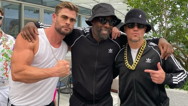 Chris Hemsworth, Idris Elba and Matt Damon