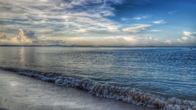 A view of a beach at Bangka Island, Indonesia