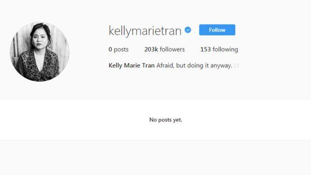 Screenshot of Kelly Marie Tran's Instagram page