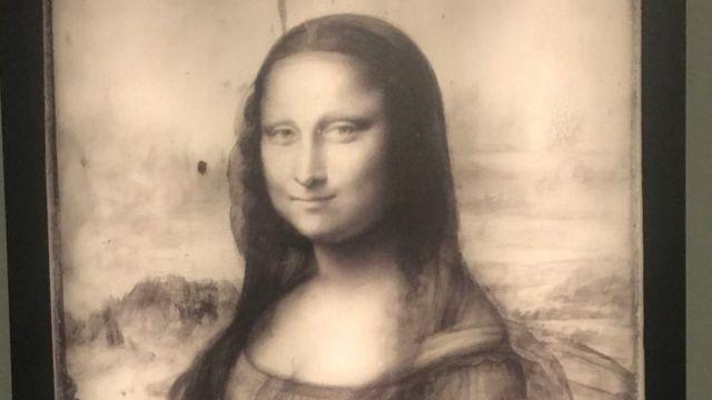 Mona Lisa em infravermelho