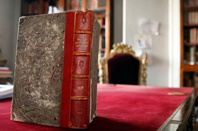 El libro con los documentos emitidos por el Consejo Universitario de la Universidad de Chile en 1938