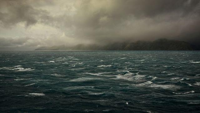 Vista da Zelândia do mar