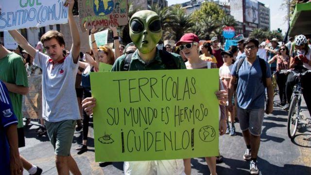 Protesta contra el cambio climático en chile