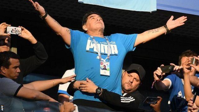Diego Maradona iyo 2018-kii