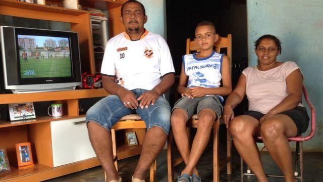 Família na comunidade quilombola Contente, no Piauí
