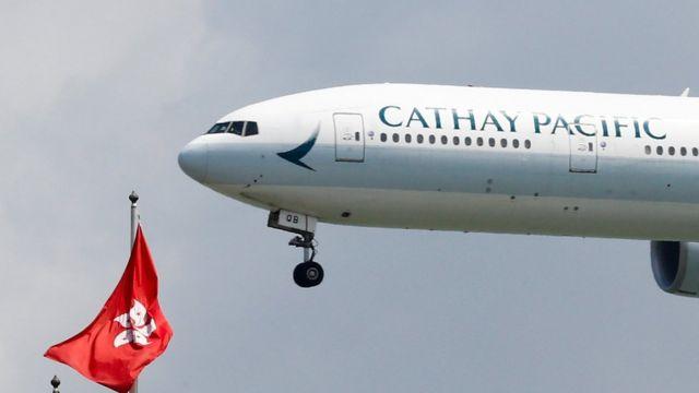 国泰航空公司的客机