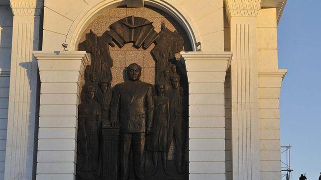 фрагмент памятника в Казахстане