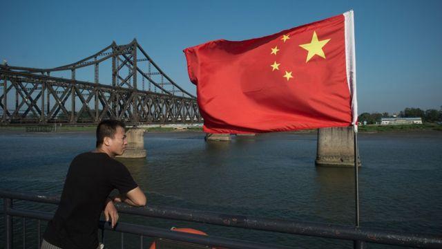 中朝邊境的丹東市