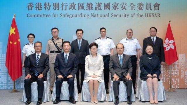 香港特区国安委首次会议之后全体官员合照(8/8/2020)