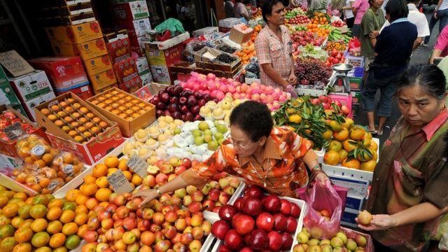 ตลาดผลไม้ในไทย