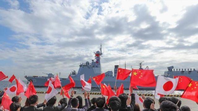 """中國新型國產""""太原號""""驅逐艦2019年10月訪問日本"""