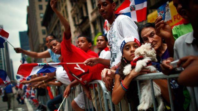 Desfile dominicano em Nova York.