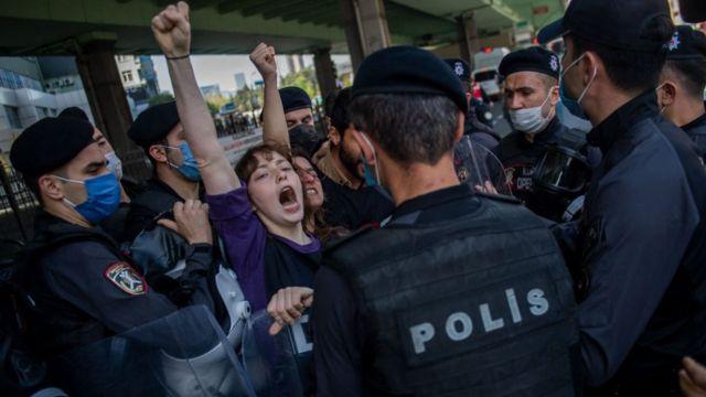 Акция 1 мая в Стамбуле