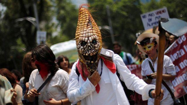 Protesta contra Monsanto en Ciudad de México