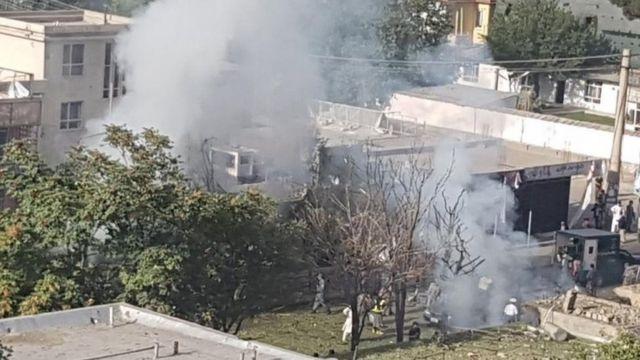 Kabil'de intihar saldırısının düzenlendiği bölge