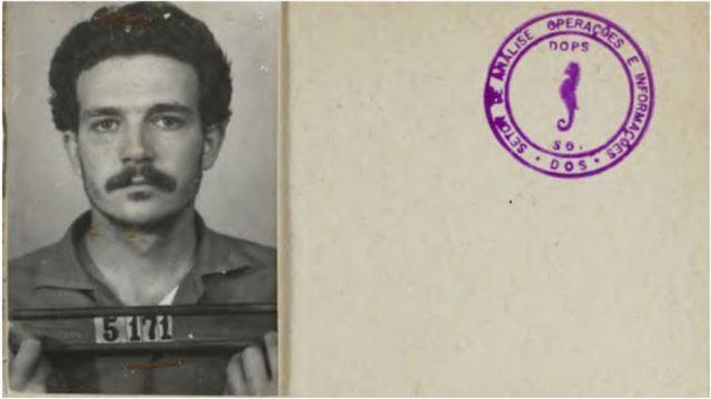 Ficha de las fuerzas de seguridad brasileñas sobre Lúcio Bellentani, militante comunista detenido en una fábrica de Volkswagen en São Paulo en 1972