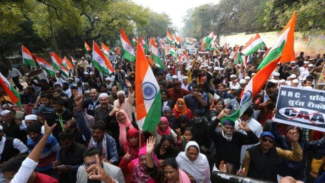 احتجاجات ضد قوانين الجنسية في الهند