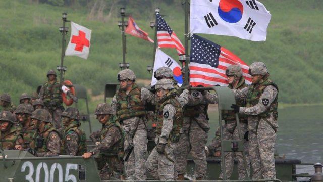 Quân đội Mỹ - Hàn trong một lần diễn tập: Hoa Kỳ hiện có trên 23 nghìn quân đồn trú tại Hàn Quốc