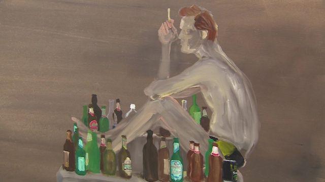 A painting by Icelandic artist Ragnar Kjartansson.