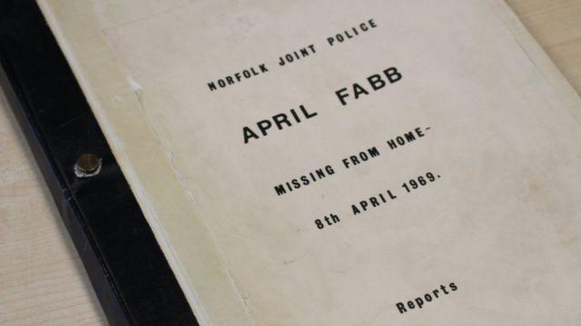 Arquivo do caso de April Fabb