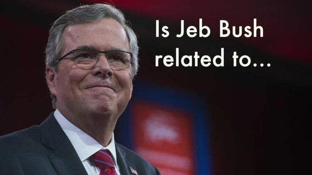 """Picture of Jeb Bush. """"Is Jeb Bush related to..."""""""