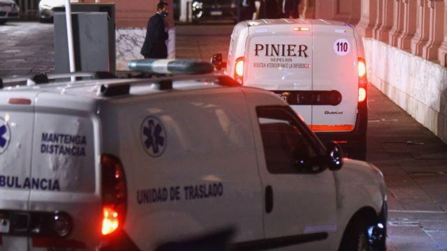 جسد دیگو مارادونا در حال انتقال به کاخ ریاست جمهوری آرژانتین