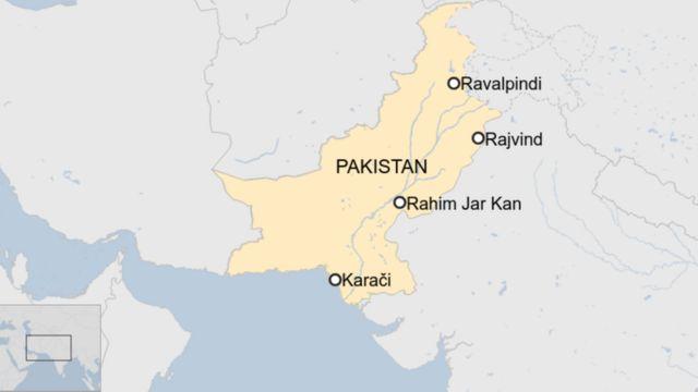 mapa Pakistana