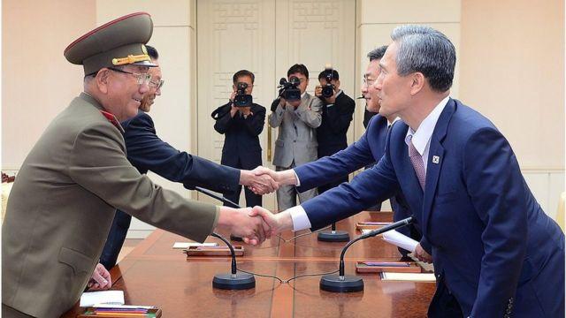 8月の南北協議では対話再開などに合意した