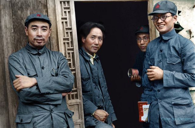 Maozedong 1: 毛澤東和周恩來在延安,1935年