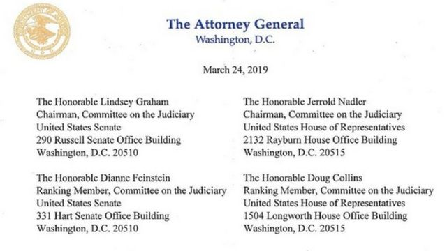 Letter from DoJ to Congress