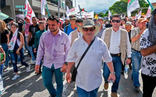 Timochenko en Medellín.