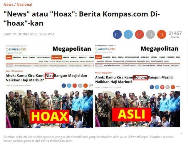 kompas, ahok, hoax