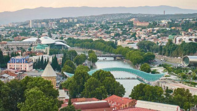 Tbilisi, Gürcüstan, sərhəd