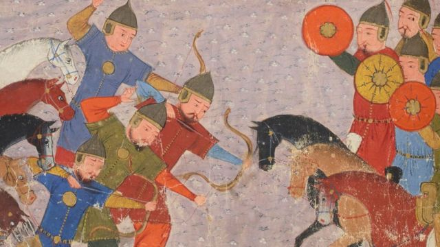 جمال الدین خوارزمی اور منگولوں کے درمیان جنگ کا منظر