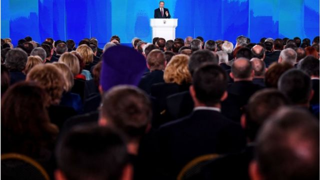 Vladimir Putin govori pred Federalnom skupštinom Rusije