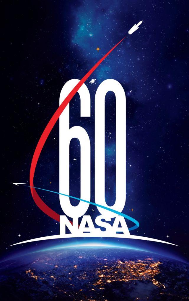Logo de la NASA con motivo de su 60 aniversario