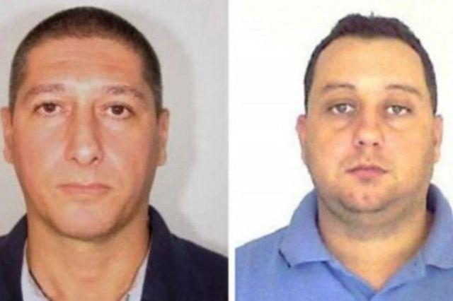 Os ex-PMs Ronnie Lessa (à esq.) e Elcio Vieira de Queiroz