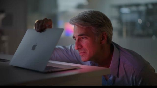 Craig Federighi with the new Mac