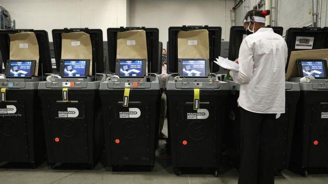多米宁软件在本次选举中广泛应用于投票机和点票机。