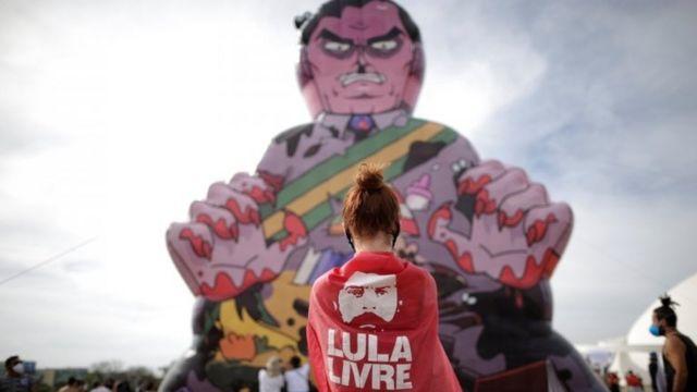 Ato contra Bolsonaro em Brasília em maio