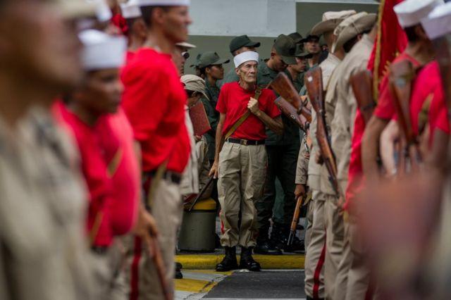Miembros de la Milicia Nacional Bolivariana de Venezuela
